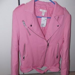 H&M neon pink jacket